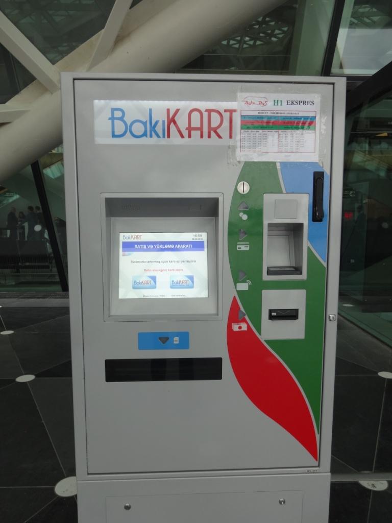 автомат для покупки билета баку