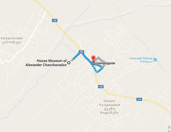 как добраться до музея чавчавадзе в цинандали