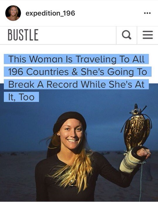 девушка посетила 196 стран мира