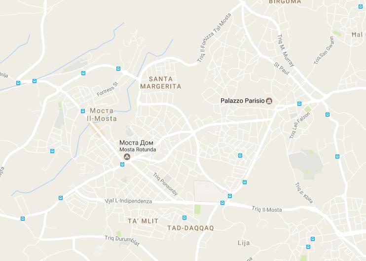 палаццо паризио на карте