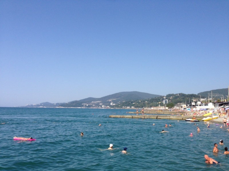 море пляж адлер