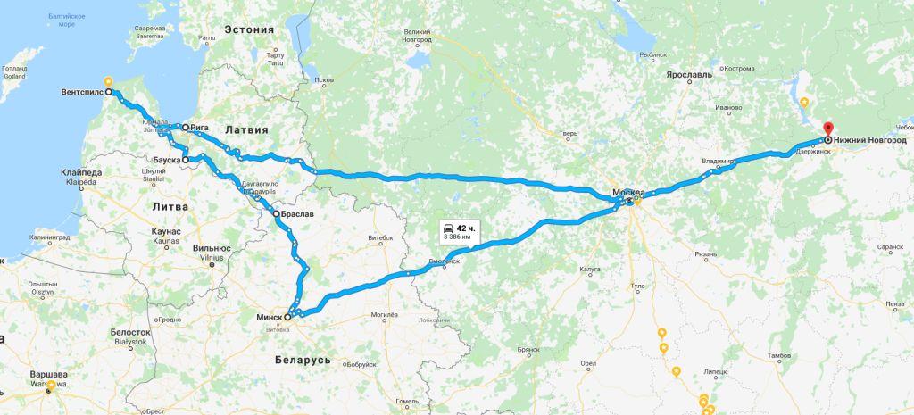 маршрут автопутешествия латвия беларусь