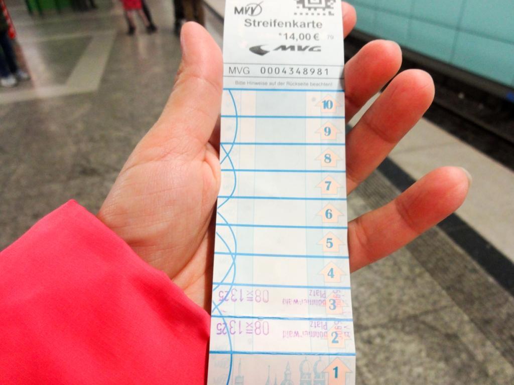 билет на метро мюнхен