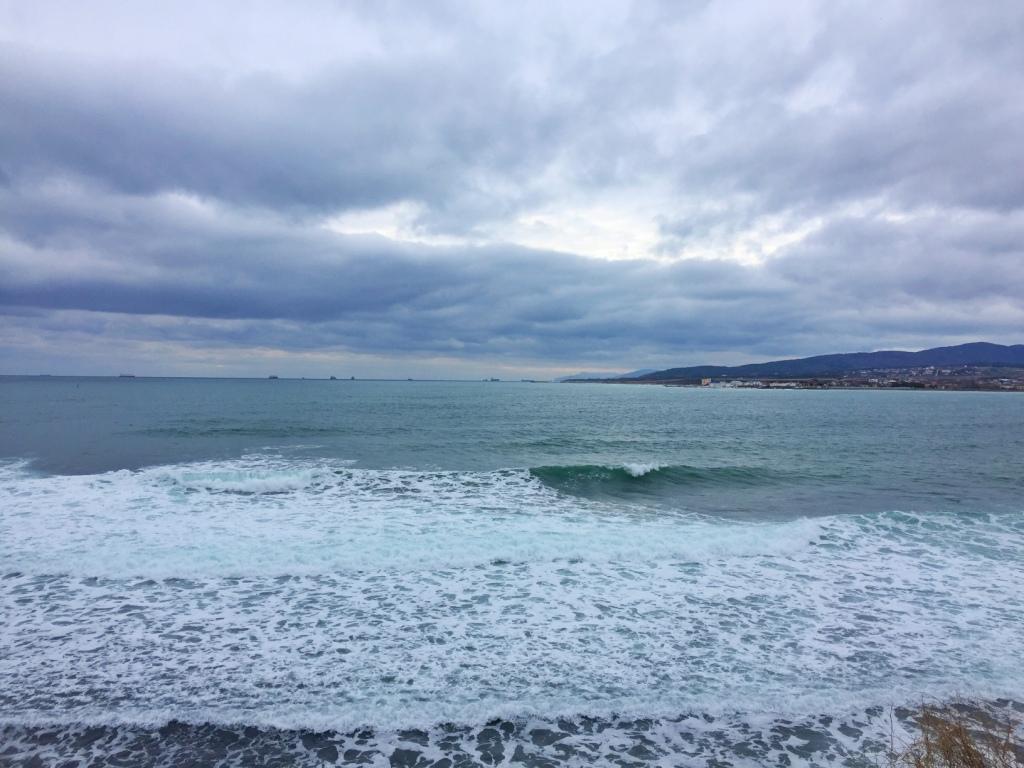 геленджик море зимой