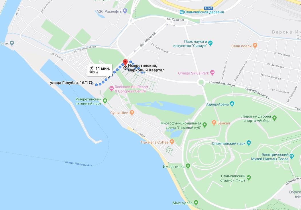парковый квартал на карте