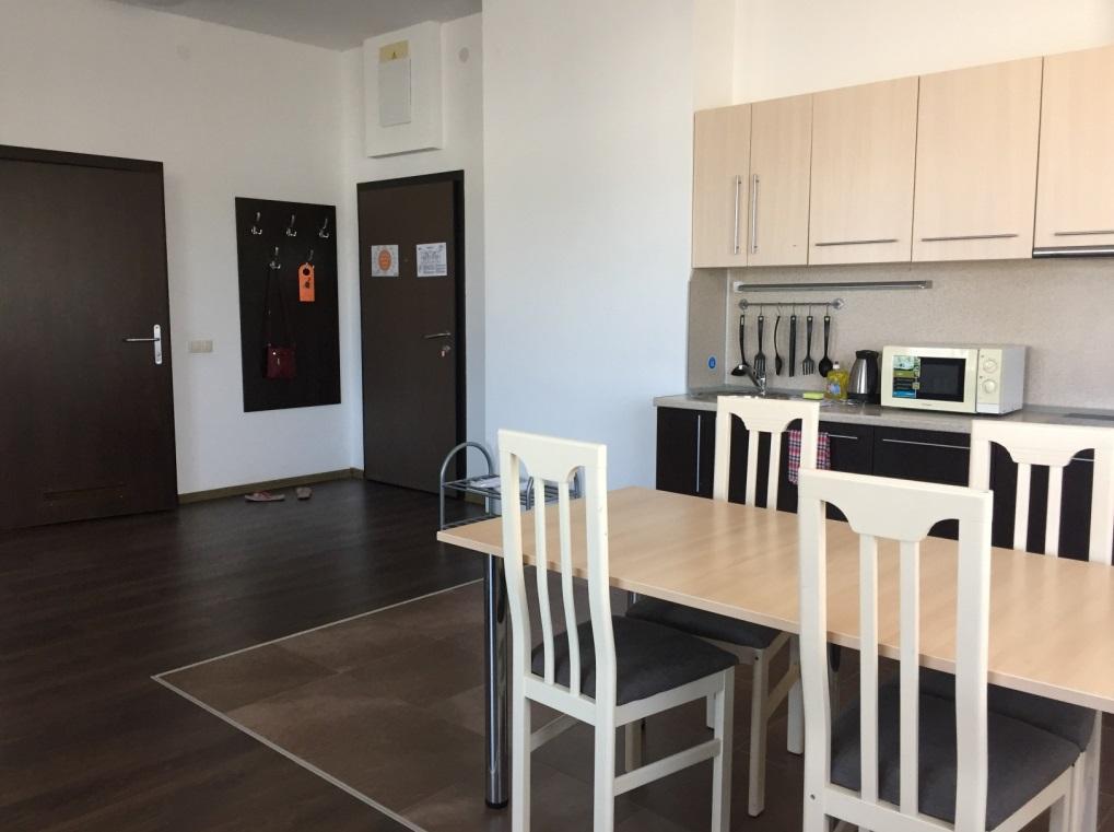 кухня в студии апарт отель имеретинский парковый квартал