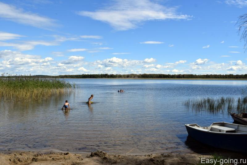 пляж на озере струсто браславские озера