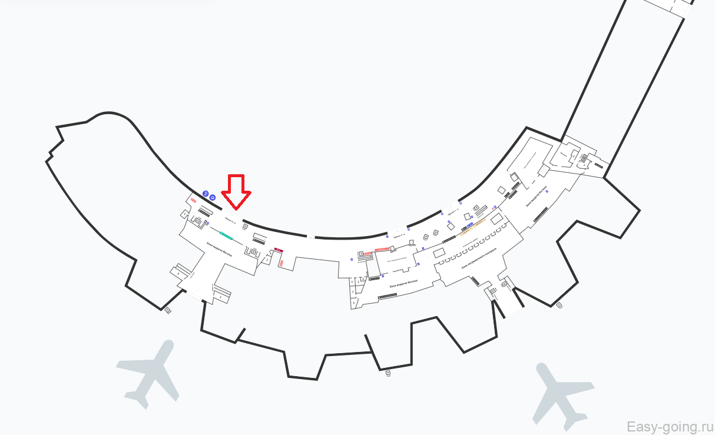 схема аэропорта в минске