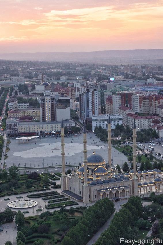 """Вид на мечеть """"Сердце Чечни"""""""