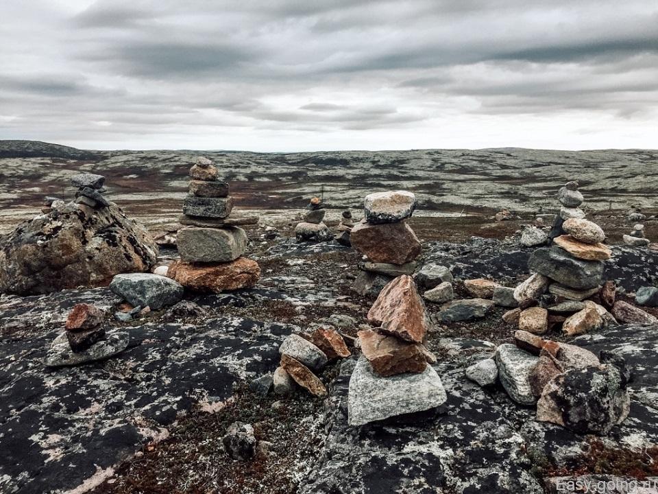 сад камней по дороге на Териберку