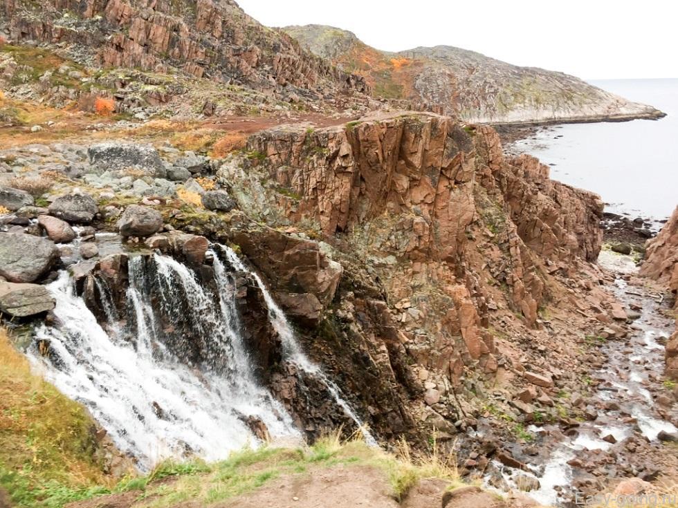 водопад териберка