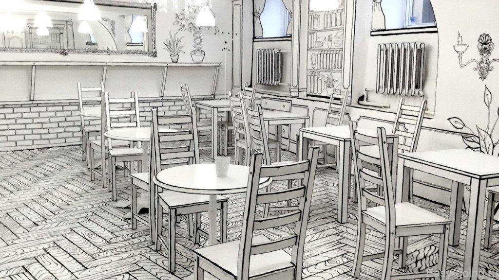 черно-белое кафе в санкт-петербурге
