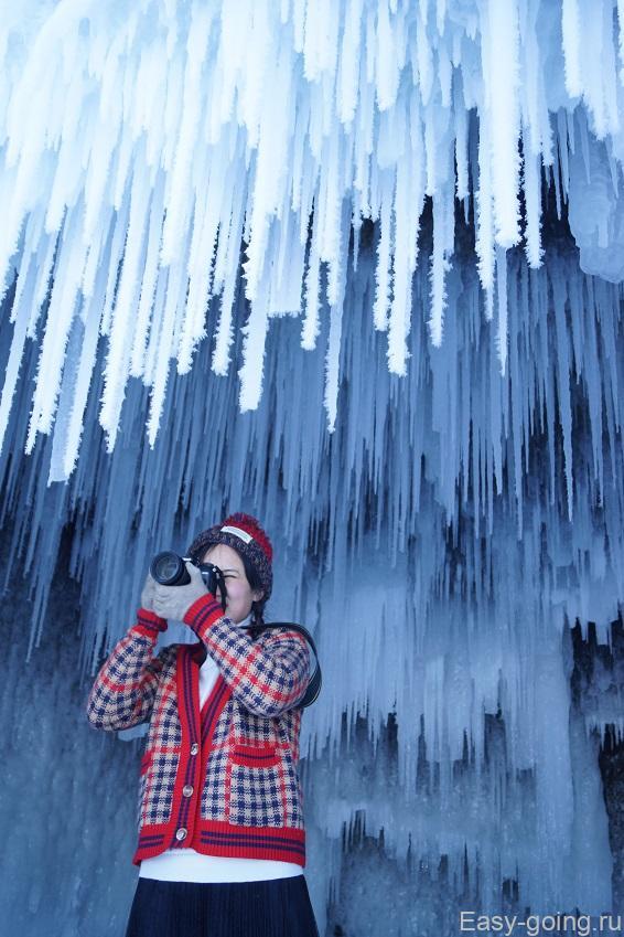 гроты пещеры байкала зимой