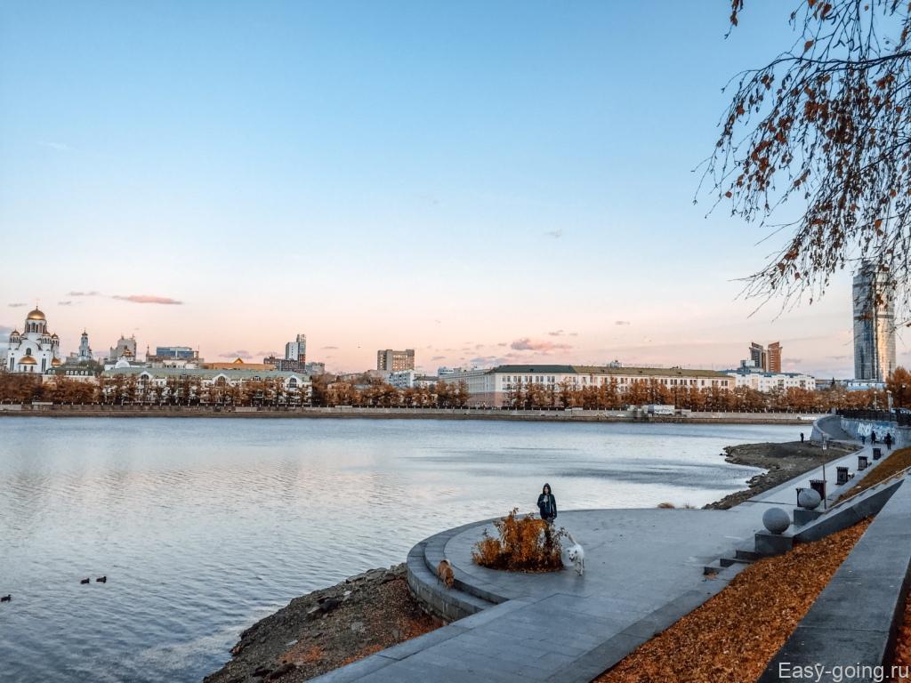 городской пруд в екатеринбурге около ельцин центра